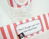 Pirate Bottle Wrappers - DIY Printable Parties