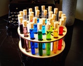 Dr Jekylls Party Platter Test Tubes and Holder With Corks