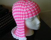 RESERVED Bright Pink Stripes Hat Hair