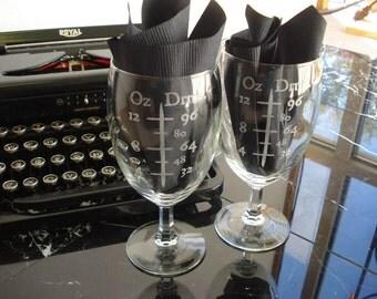 Two Scientific Wine Glasses