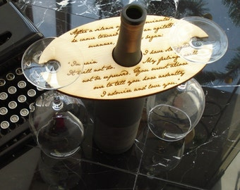 Jane Austen Wine Glass Holder Pride and Prejudice