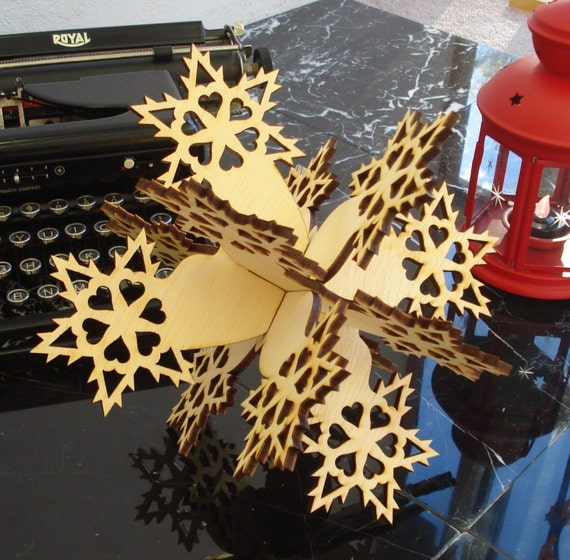 Large Wooden Snowflake