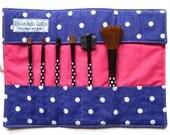 Make up brush roll- purple spotty, UK location