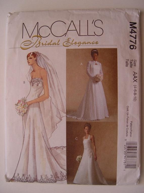Wedding Dress And Shrug Pattern McCalls M4776 By Pickapattern4u