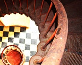 Architecture Detail Circular Stairs Fine Art Photography Inside the Cape Hatteras Light House 8 x 10 North Carolina Beach Light House