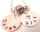 GiGi Hand Stamped Charm Necklace
