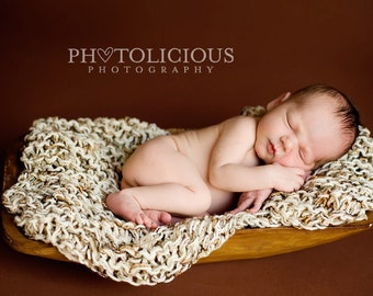 Newborn Photography Prop Knit small baby blankets