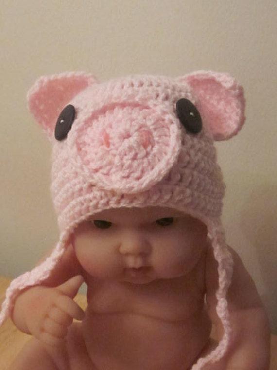Newborn Photography Prop Miss piggy hat