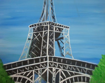 Eiffel Tower - 16x20 Original Painting