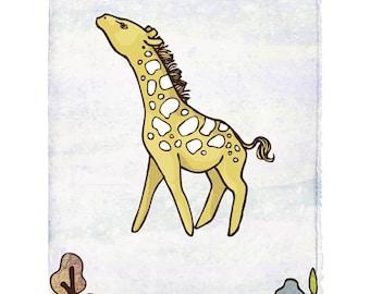 Giraffe // 8x10 Print
