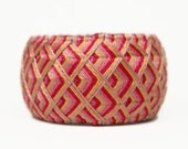 Yubinuki -Japanese traditional silk thimble- Pink Waves