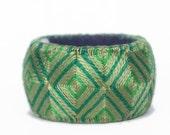 Yubinuki -Japanese thimble ring- Green Square