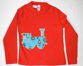 Robot Train Red Long Sleeve Shirt: Size 2