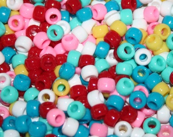 1000 Southwest Color Opaque Pony Beads mix 02