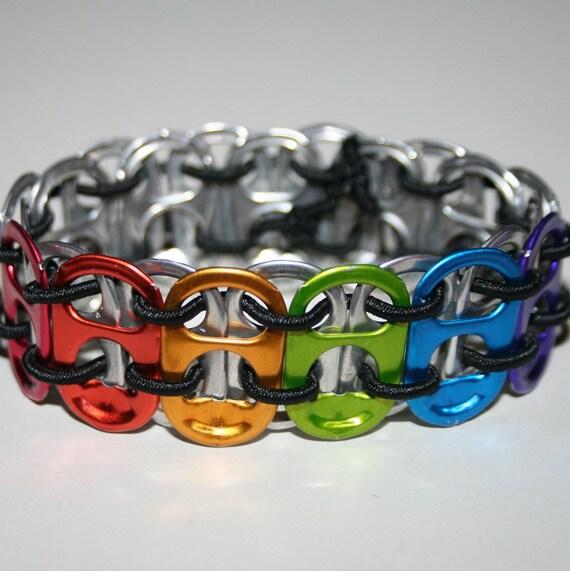 Rainbow Tab Stretchy Pop Can Tab Bracelet 3