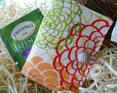 Tea Wallet, Tea Bag Carrier, Gift For Coworker, Gift Under 15, Great Gift or Shower Favor, Fresh Fushion Fabric