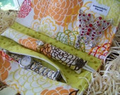"""Jewelry Roll-Up/Clutch in Fresh Fushion And Moda """"Sugar Pop"""" Designer Fabric........ Great Bridesmaid Gift Packages Available"""