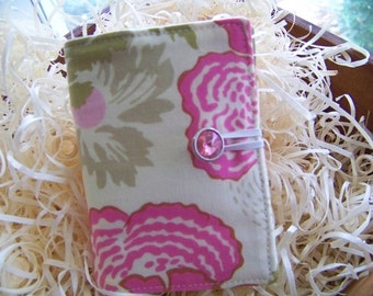 """Tea Time Wallet in Amy Butler's Fresh Poppies and Honeycomb Fabrics """" Great Gift or Shower Favor"""