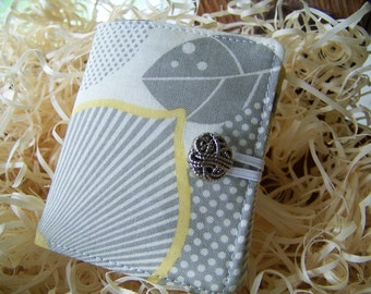 """Mini Tea Wallet Gift For Coworker, Gift Under 10, """"Optic Blossom"""" by Amy Butler, (Bridal Showers, Baby Showers, Tea Parties)"""