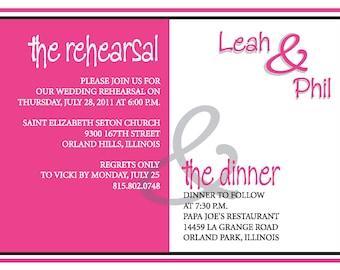 Rehearsal Dinner Invite Custom Colors