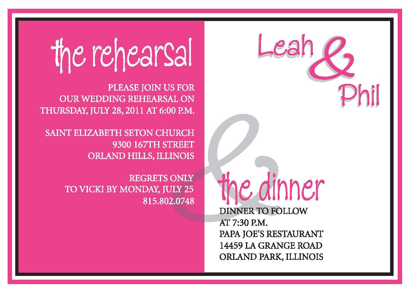 Who Is Invited To The Wedding Rehearsal Dinner: Rehearsal Dinner Invite Custom Colors