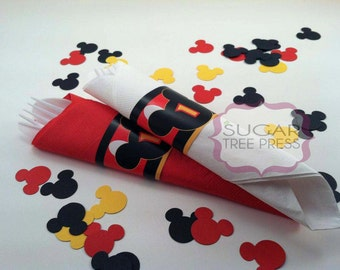 Printable - Mickey Mouse Inspired Paper Napkin Ring