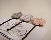 Adult crochet bobbi pin set of 3
