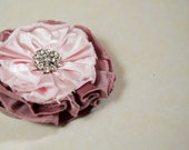Rhia headband made of silk shantung fabric