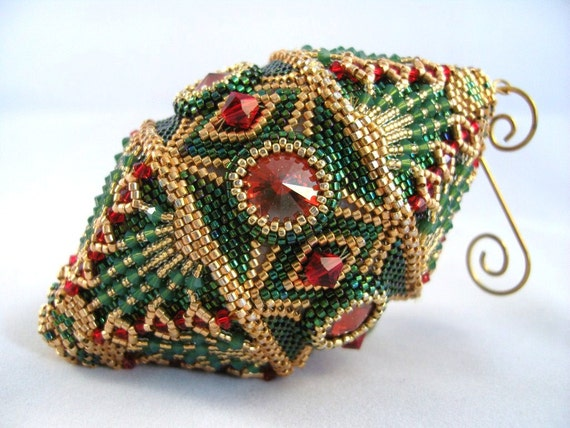 Pattern / Tutorial Beaded Christmas Ornament