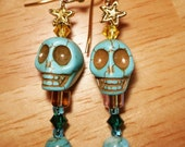 Sparkle Skulls in Turquoise