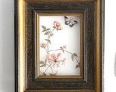 Mintook - Japanese Embroidery style, on transparent fabric with special wood frame