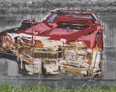 Cadillac Graffiti 3 variations -  Custom Print 36x21 (Austin, Tx)