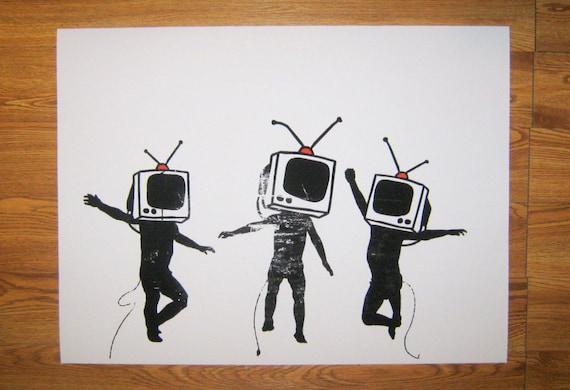 Banksy Art Custom Print 18x24 - Television