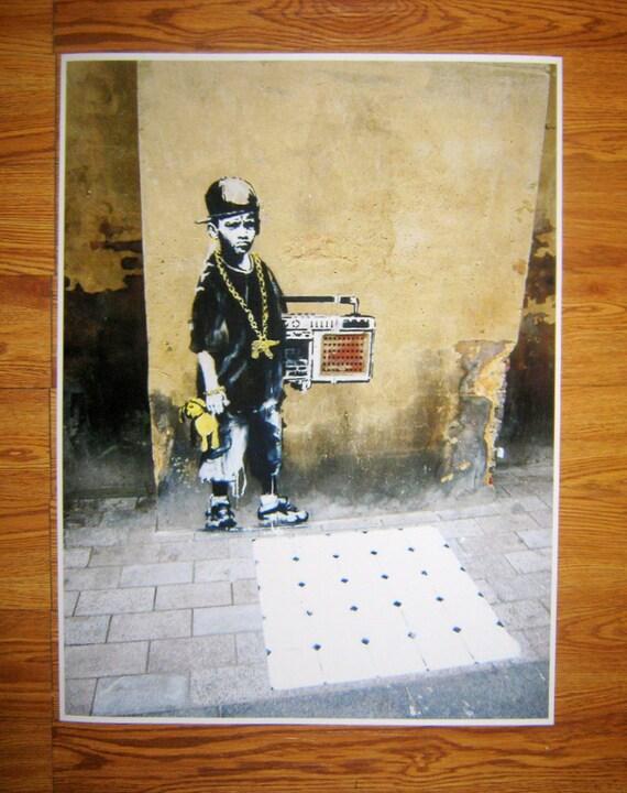 Banksy Art Custom Print 24x32 - Thuglife Teddy Bear