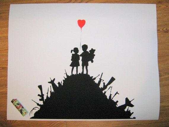 Banksy Custom Print 18x24 - Boys and Girls