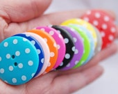 RESERVED Listing for Eleni from GALEL. 24 LARGE Spotty Buttons- approx 3.5cm