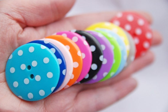 large spotty buttons uk
