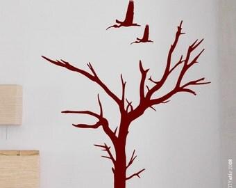 AUSTRALIA : Dead Tree near Uluru (Ayers Rock) with Ibis birds, star - WALL DECAL