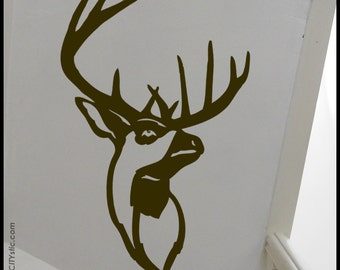 Cerf bois etsy - Tete animaux mural ...