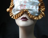 """SALE SALE - Satin Sleep mask with grey and gold """"Jeanne"""" by Love Me Sugar Paris on Etsy"""