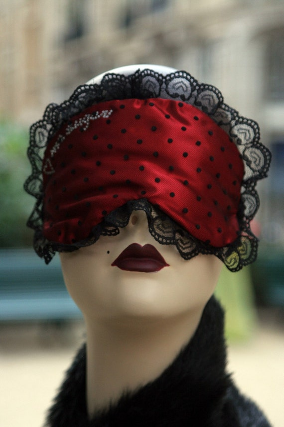 Sleepmask Eyemask  sexy RED BOUDOIR by Love Me Sugar Paris on Etsy