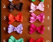 You Pick 4 (four) Small 2 inch Pinwheel Bows - 28 color choices