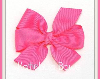 Pinwheel Hair Bows Lot   Pick 6 Bows   Solid Color or Polka Dot   Mix and Match   Medium Hair Bow  