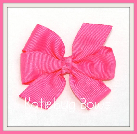 Pinwheel Hair Bows Lot | Pick 6 Bows | Solid Color or Polka Dot | Mix and Match | Medium Hair Bow |