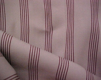 VINTAGE RARE 30s 40s Wool Gabardine Fabric Pinstripe 3 &1/2 Edwardian Art Deco Bespoke Sartorial
