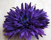 Purple Flower Hair Comb - thejadedlady