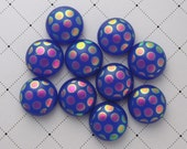 Dichroic Glass Mini Cabs, Dichroic Beads, Dichroic Cabochons, Glass Beads, 4615 - GalaxyGlass