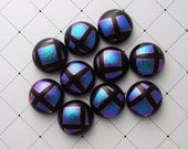 Dichroic Glass Mini Cabs, Dichroic Beads, Dichroic Cabochons, Glass Beads, Buttons 2910 - GalaxyGlass