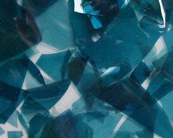 Turquoise Shards/Confetti Glass 96 Coe