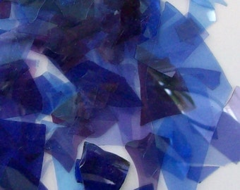 Reddish Amethyst Shards/Confetti Glass 96 Coe